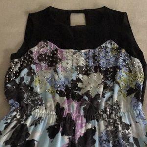 Sportmax Max Mara Black organza top flower dress